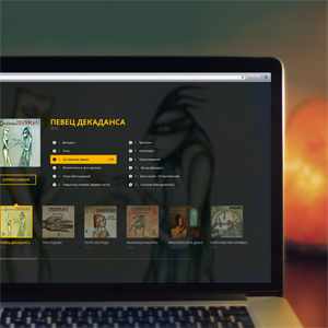 Custom design of a website for Piknik misic group